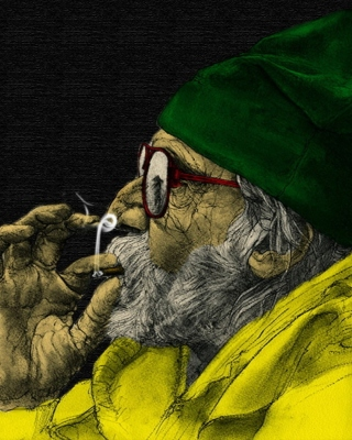 Rastafari and Smoke Weeds Background for 480x640