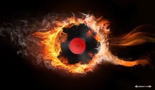 Burning Vinyl Wallpaper for Android, iPhone and iPad