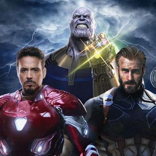 Avengers Infinity War with Captain America, Iron Man, Thanos - Fondos de pantalla gratis para iPad Air