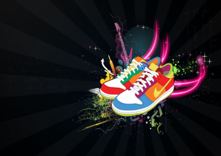 Nike Shoes Background for Android, iPhone and iPad