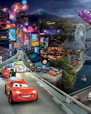 Cars 2 Wallpaper for 128x160