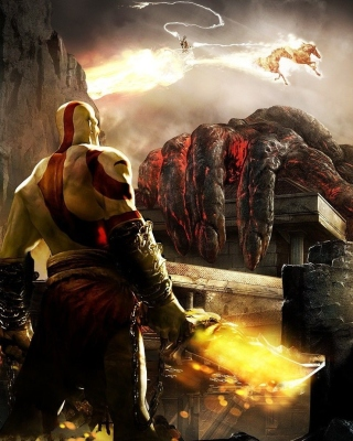 God of War III Background for Nokia Asha 300