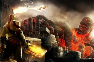 God of War III Background for 1080x960