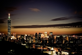 City At Twilight Wallpaper for Android, iPhone and iPad