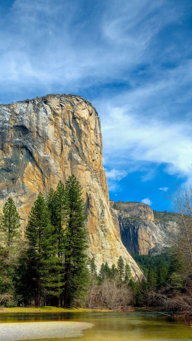 Screenshot №1 pro téma Yosemite National Park in Sierra Nevada 640x1136