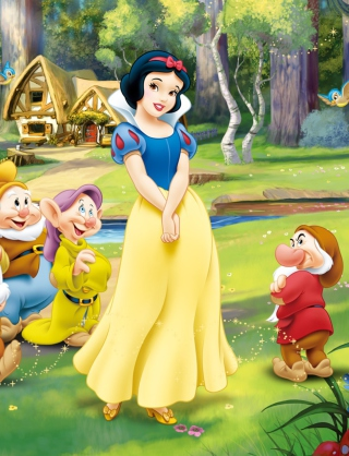 Snow White and the Seven Dwarfs sfondi gratuiti per Nokia 2730 classic