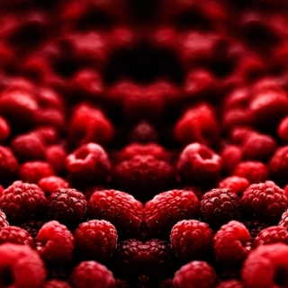 Appetizing Raspberries Background for iPad