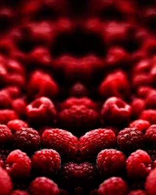 Appetizing Raspberries Wallpaper for Nokia Asha 300