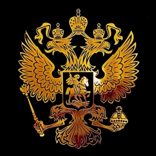 Russian coat of arms golden - Fondos de pantalla gratis para iPad Air