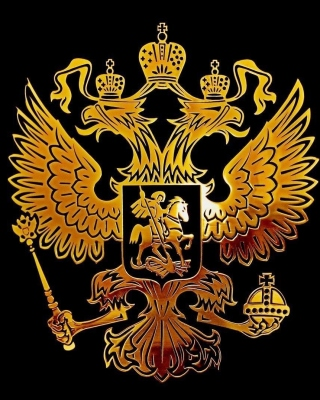 Russian coat of arms golden - Fondos de pantalla gratis para 640x960