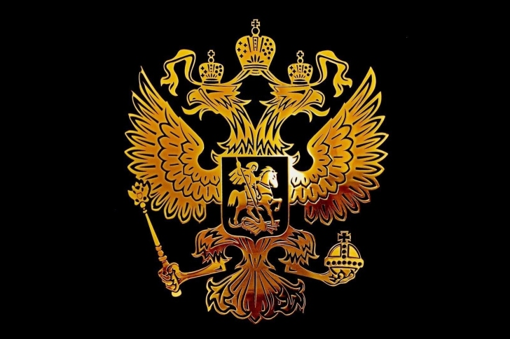 Das Russian coat of arms golden Wallpaper