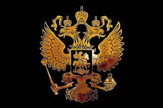 Russian coat of arms golden Background for 2560x1600