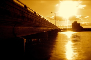 Sunlit Bridge Background for Android, iPhone and iPad