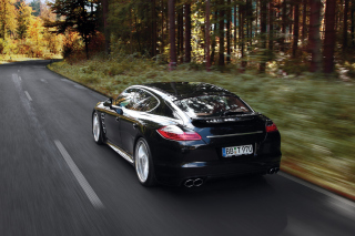 Porsche Panamera Turbo Background for Android, iPhone and iPad