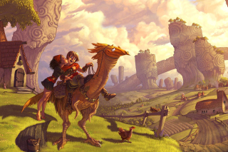Dragon Riders sfondi gratuiti per Samsung Galaxy Note 2 N7100
