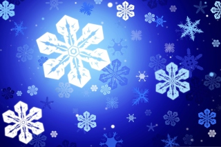 New Year Snowflakes Wallpaper for Android, iPhone and iPad