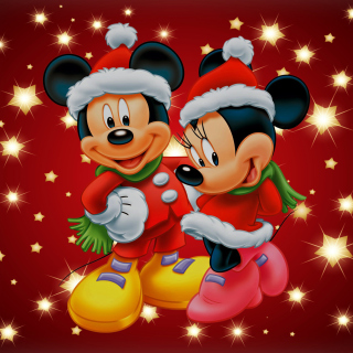 Mickey And Mini Mouse Christmas Time - Obrázkek zdarma pro iPad 2