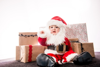 Baby Santa Wallpaper for Android, iPhone and iPad