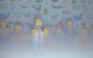 Simpsons sfondi gratuiti per LG P500 Optimus One