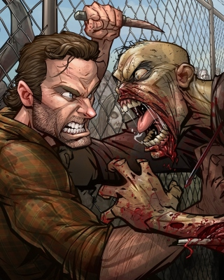 Free The Walking Dead Zombie Picture for 240x320