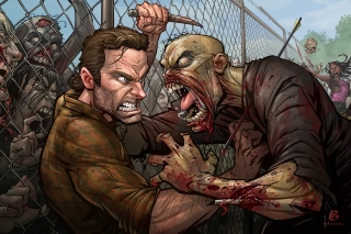 Kostenloses The Walking Dead Zombie Wallpaper für Android, iPhone und iPad