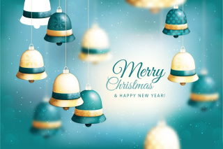 Free Merry Christmas Bells Picture for Android, iPhone and iPad
