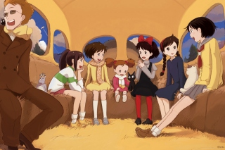 Kikis Delivery Service with Kiki, Jiji, Osono and Ursula Background for Android, iPhone and iPad