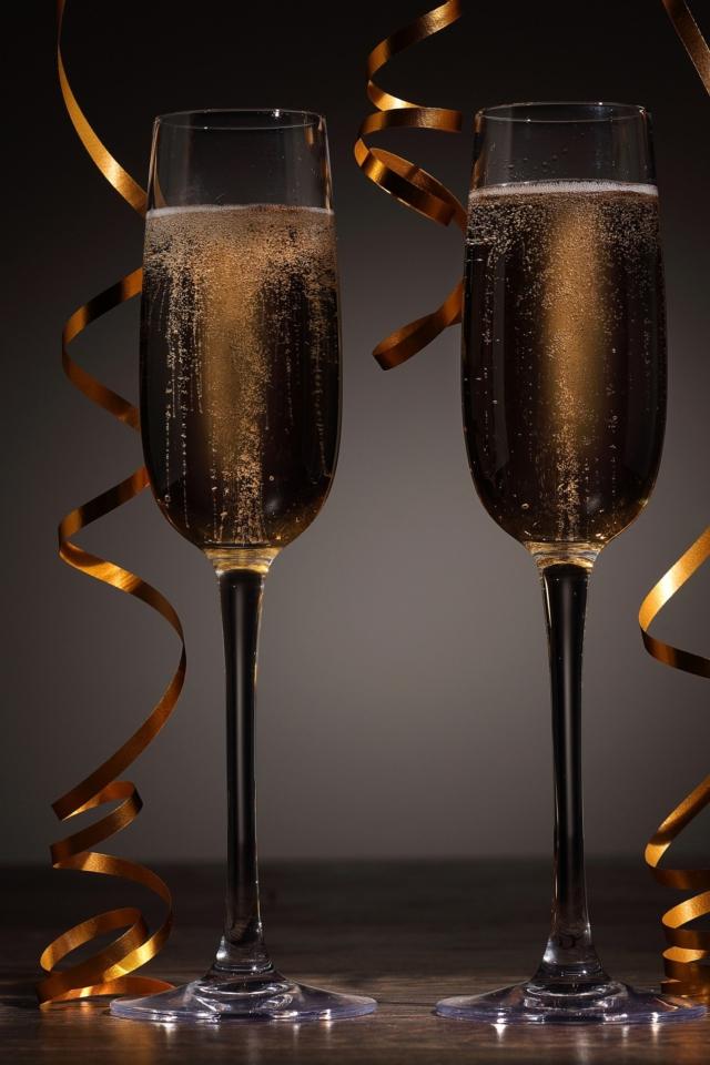 Картинки стаканы с шампанским