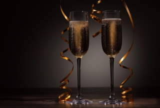 Holiday Champagne Wallpaper for Android, iPhone and iPad