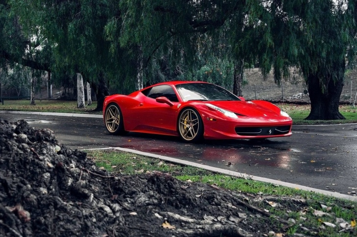 Ferrari Enzo after Rain wallpaper