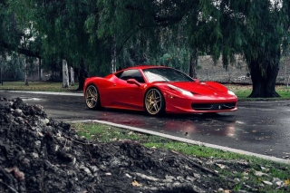 Ferrari Enzo after Rain Background for Android, iPhone and iPad