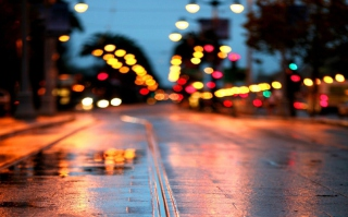 City Lights After Rain - Fondos de pantalla gratis para 1600x1200