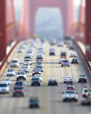 Kostenloses Cars On Bridge Wallpaper für 320x480