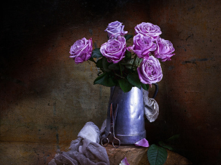 Purple Roses Bouquet Wallpaper for Android, iPhone and iPad