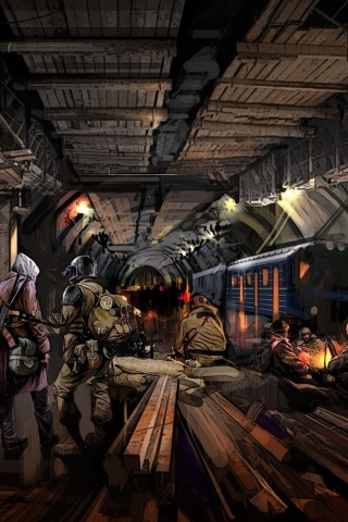 Screenshot №1 pro téma Metro 2034 Novel 320x480