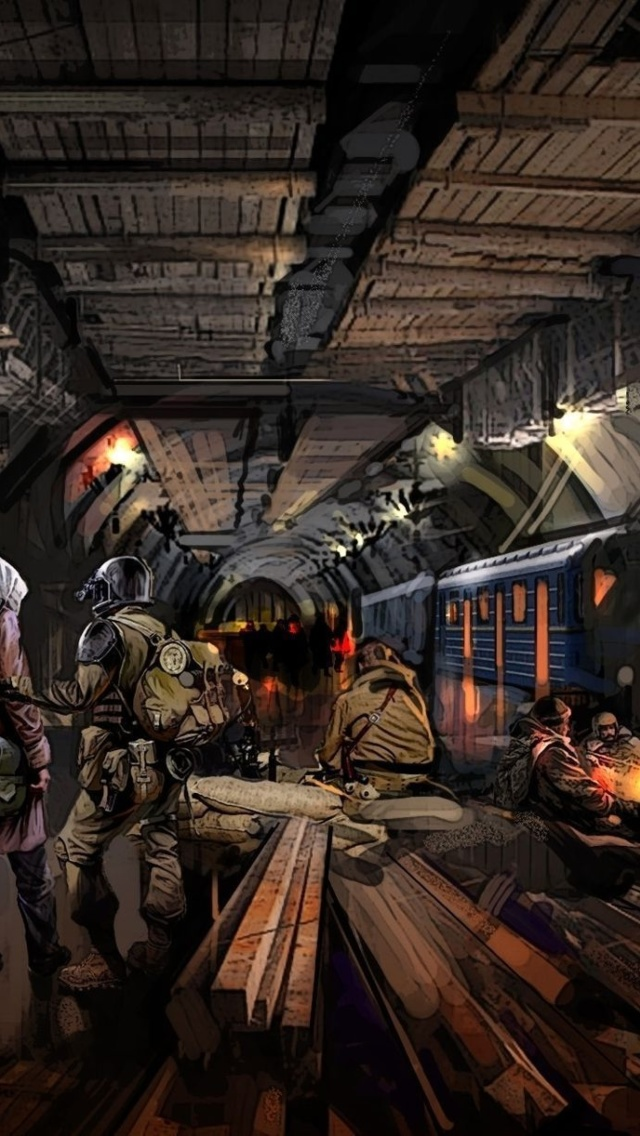 Metro 2034 Novel wallpaper 640x1136
