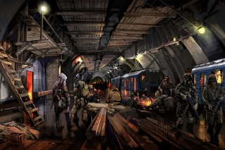 Metro 2034 Novel Background for Android, iPhone and iPad