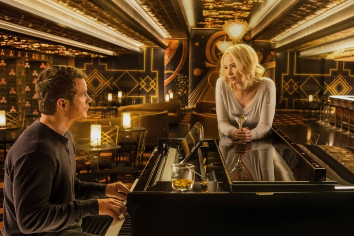 Jennifer Lawrence and Chris Pratt in Passengers Film wallpaper
