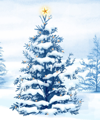 Christmas Tree Background for 360x640