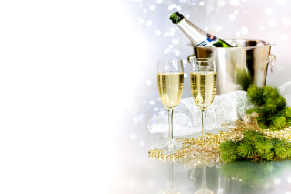 Champagne To Celebrate The New Year Background for Android, iPhone and iPad
