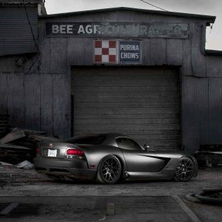 Free Black Dodge Viper Picture for iPad mini 2