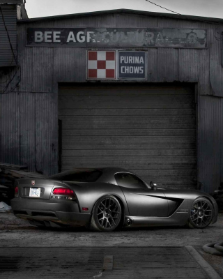 Black Dodge Viper Wallpaper for Nokia C1-01