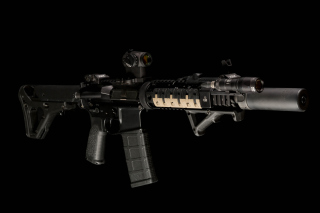 AR 15 assault rifle Background for Android, iPhone and iPad