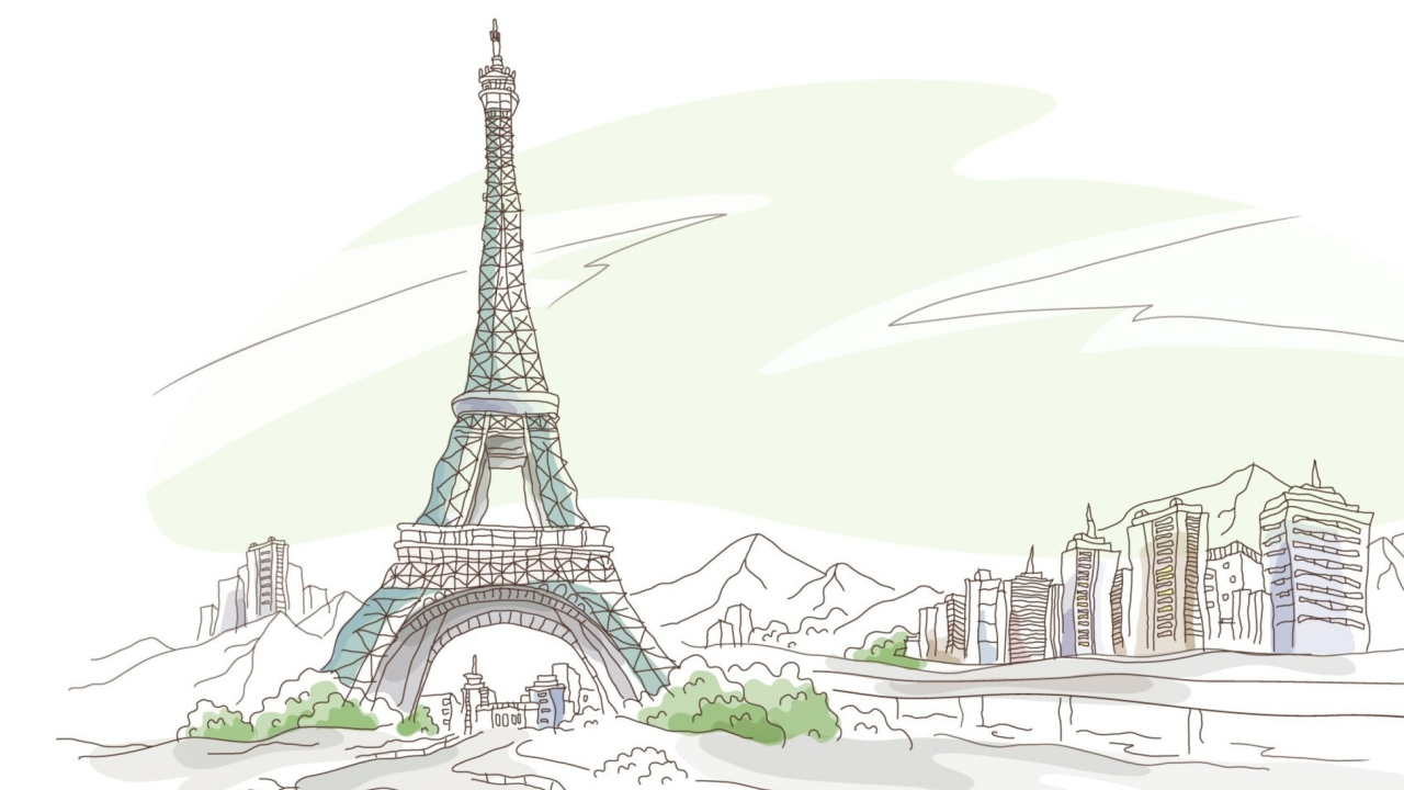 Drawing Of Eiffel Tower