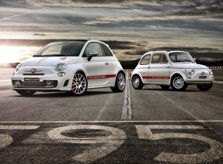 Fiat 595 Abarth Background for Android, iPhone and iPad