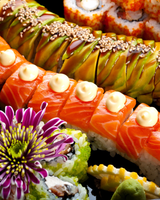 Seafood Salmon Sushi Background for HTC Titan