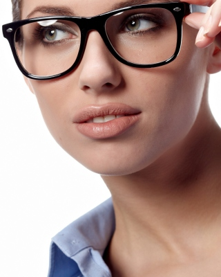 Free Girl in Glasses Picture for HTC Titan