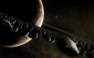 Saturn Ring Wallpaper for Android, iPhone and iPad
