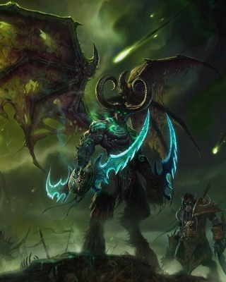 Kostenloses Lord of Outland Warcraft III Wallpaper für Nokia Asha 308