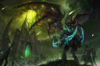 Kostenloses Lord of Outland Warcraft III Wallpaper für 480x320